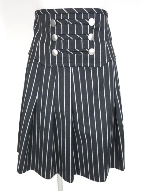 Jane Marple カマーベルト付きストライプスカート