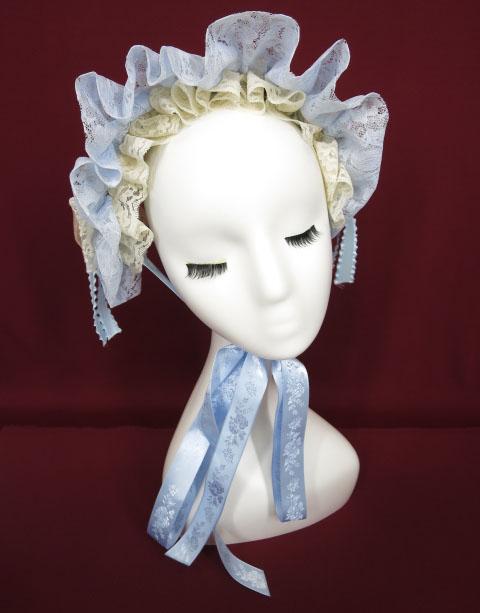 corgi-corgi ローズ&レース付きヘッドドレス
