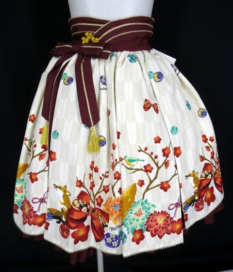 Metamorphose 春告げ鳥の恋うららスカート&リボンクリップセット