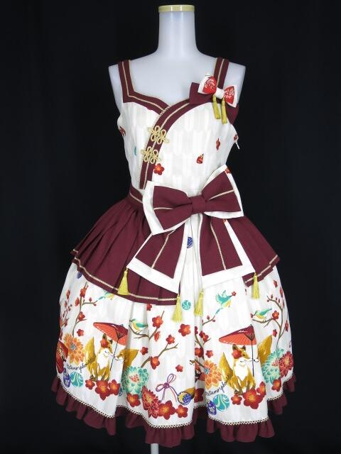 Metamorphose 春告げ鳥の恋うららペプラムジャンパースカート
