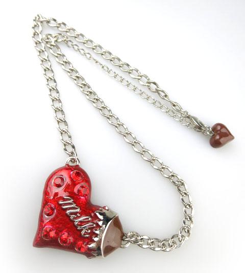MILK ハートチョコネックレス