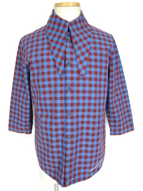 MILKBOY ギンガムチェックTIE-UPシャツ