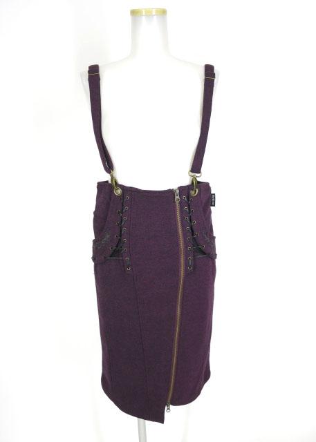 Ozz Croce サスペンダー付きツイードスカート
