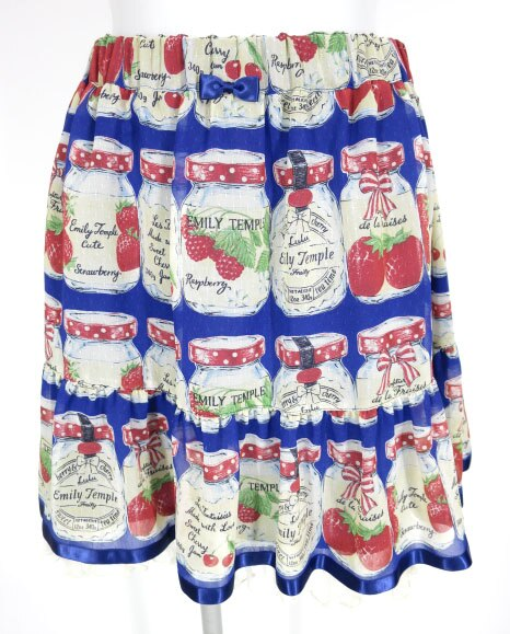 Emily Temple cute ジャム瓶柄シフォンスカート