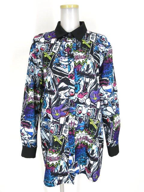 HYPER CORE 総柄ビッグシャツ