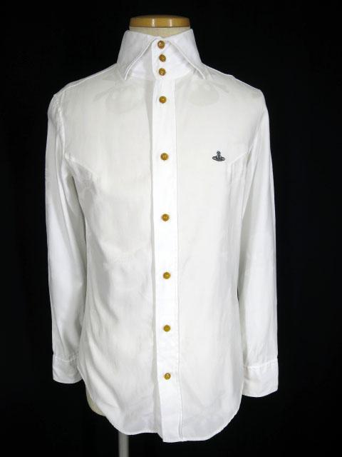 Vivienne Westwood MAN クロスボーンスカル柄ジャガードシャツ