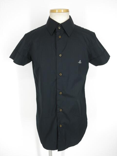 Vivienne Westwood MAN オーブ刺繍入り半袖シャツ