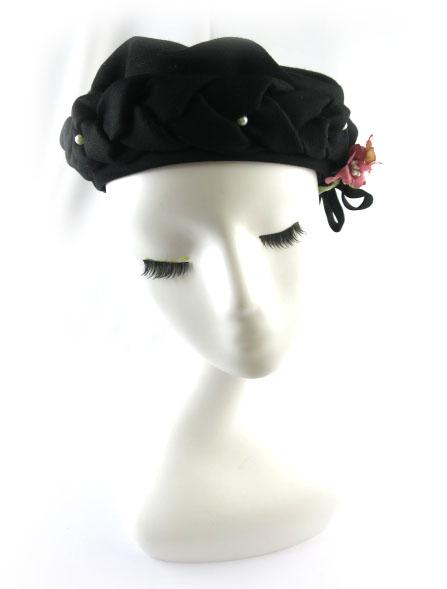 アノンハット 三つ編みベレー帽
