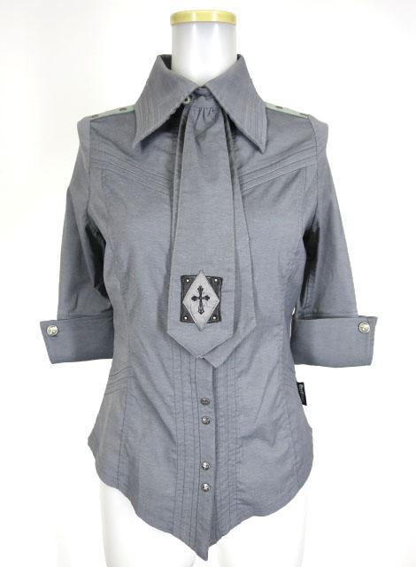 Ozz Croce ネクタイ付き七分袖シャツ