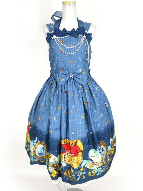 Metamorphose マーメイドプリンセスリボンジャンパースカート&ヘッドドレス セット