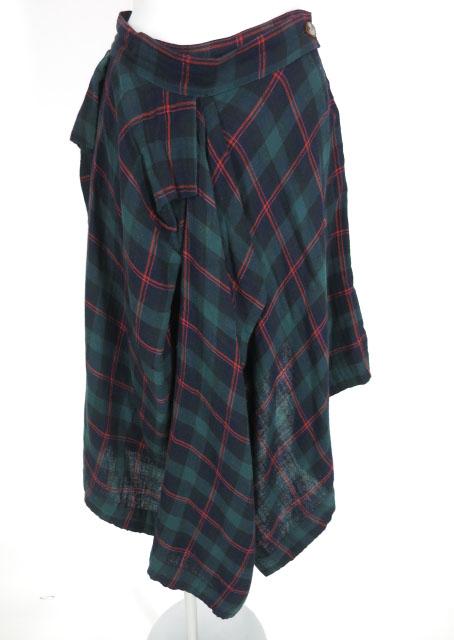 Vivienne Westwood RED LABEL チェック柄ガーゼスカート