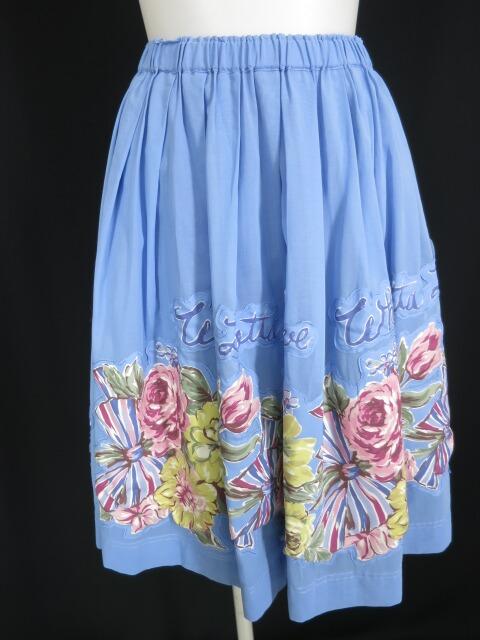 Jane Marple オーガンジーとBeautiful Bouquetのデコパージュスカート