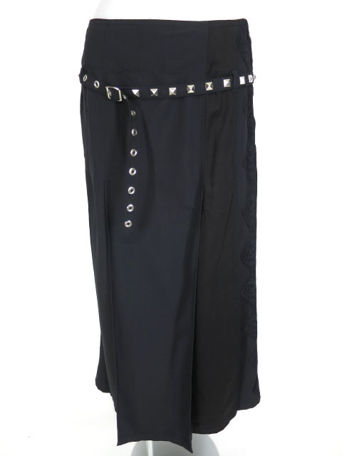 ALGONQUINS スタッズベルト付きロングスカート