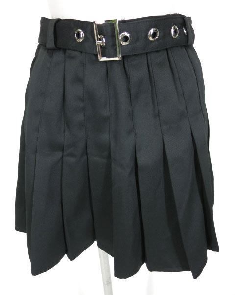 LISTEN FLAVOR ベルト付きプリーツスカート