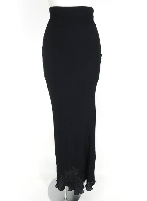 Jean Paul GAULTIER FEMME ウエストリボンジョーゼットマキシロングスカート