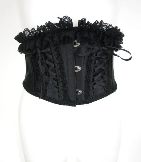 MR corset ダブル編上げベリーショートコルセット