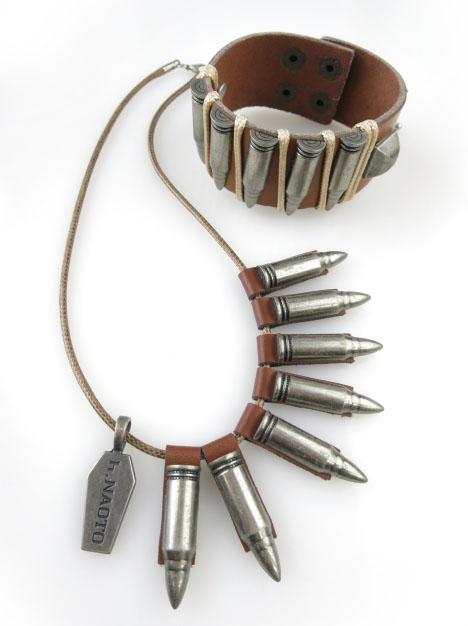 h.NAOTO 弾丸ネックレス&ブレスレット