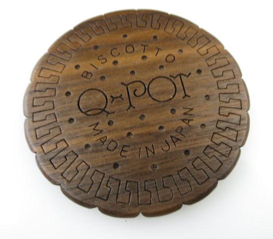 Q-pot. ラウンドチョコビスケット ミラー