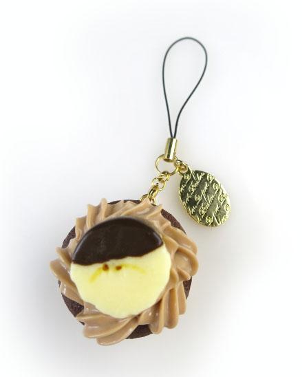 Q-pot. チョコバナナカップケーキストラップ