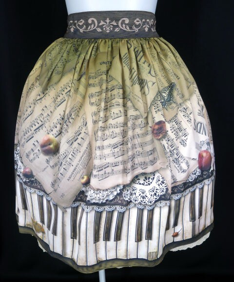abilletage アンティークピアノスカート(ミディアム)