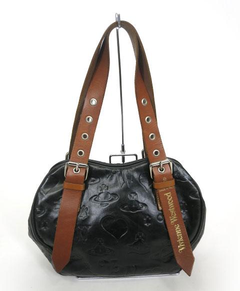 Vivienne Westwood BAM BAM 型押しレザーハンドバッグ