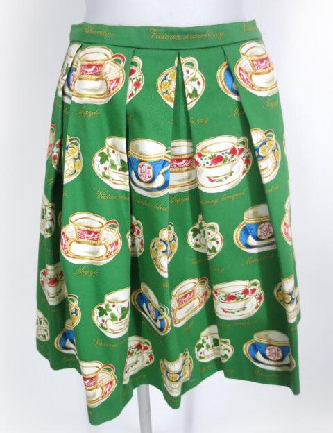 Jane Marple Dans Le Salon ミントン ティーカッププリントスカート