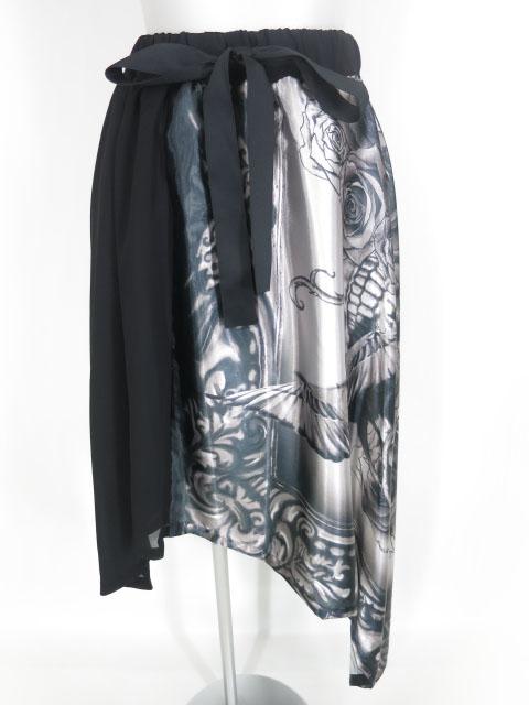 elements,H ローズガーデンプリントスカート