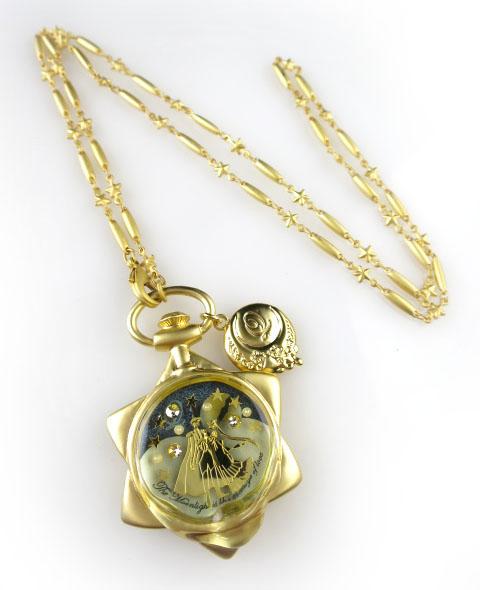 Q-pot.×美少女戦士セーラームーン... ムーンフェイズの懐中時計ネックレス