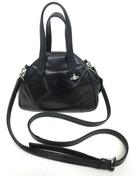 Vivienne Westwood レザーヤスミンハンドバッグ