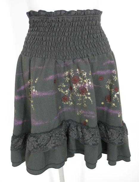 OZZ ONESTE 梅刺繍入りスカート