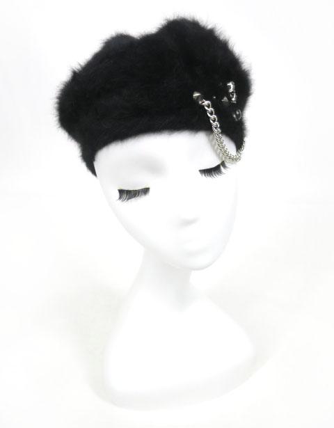 SEX POT SKULL STUDS ベレー帽