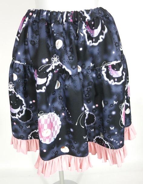 gouk雅 シロタエウサギフリルアップスカート