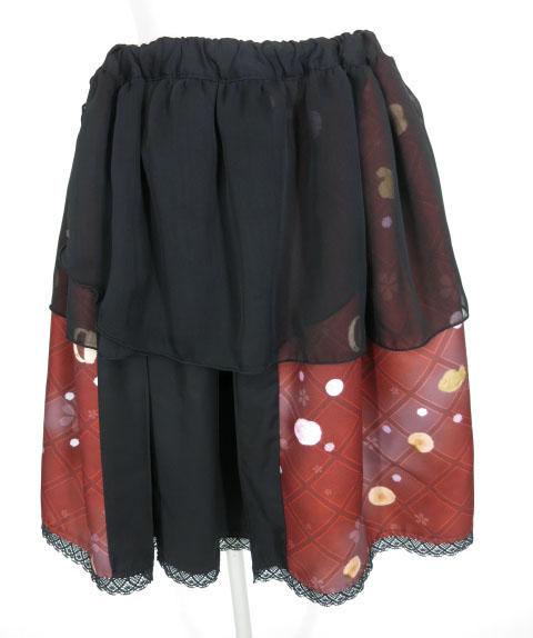 gouk雅 蜜璃甘露のミルキーウェイ柄スカート