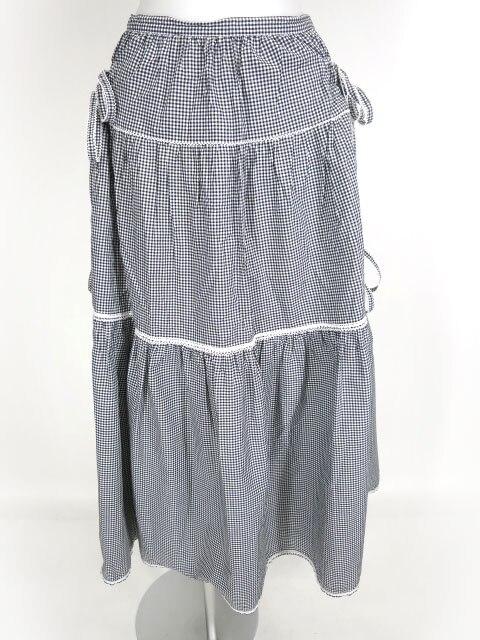 PINK HOUSE ギンガムチェックロングスカート