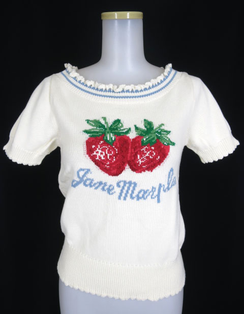 Jane Marple ストロベリー半袖ニットセーター