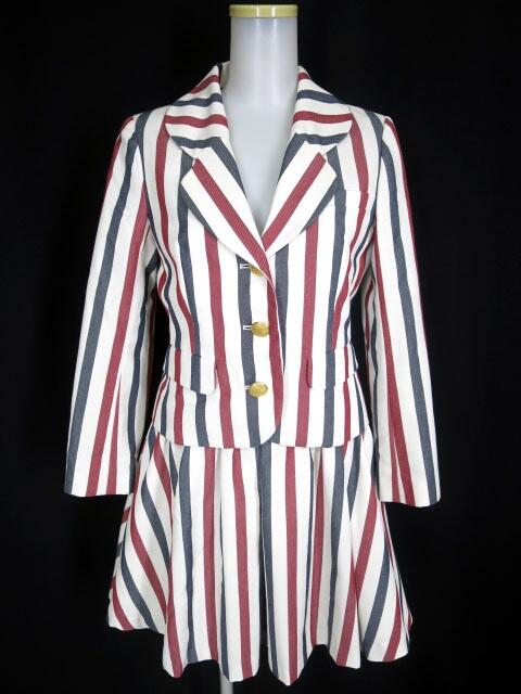 MILK ストライプ柄 CLUBジャケット&スカート セットアップ スーツ