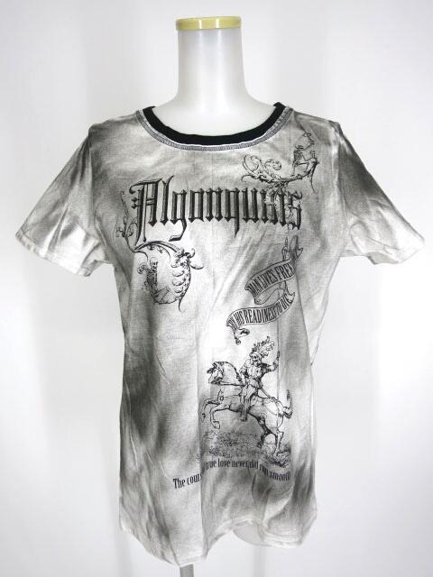 ALGONQUINS スカルナイトスプレー加工Tシャツ
