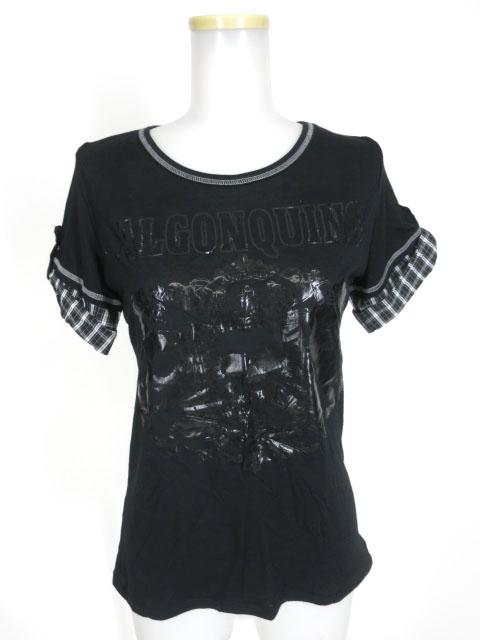 ALGONQUINS スカル&ビーストチェックスリーブTシャツ