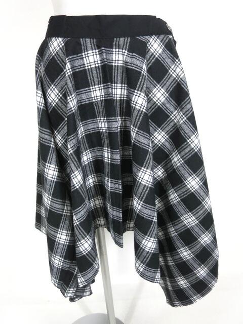 SEX POT チェック柄 PUNKISH アシメフレアスカート