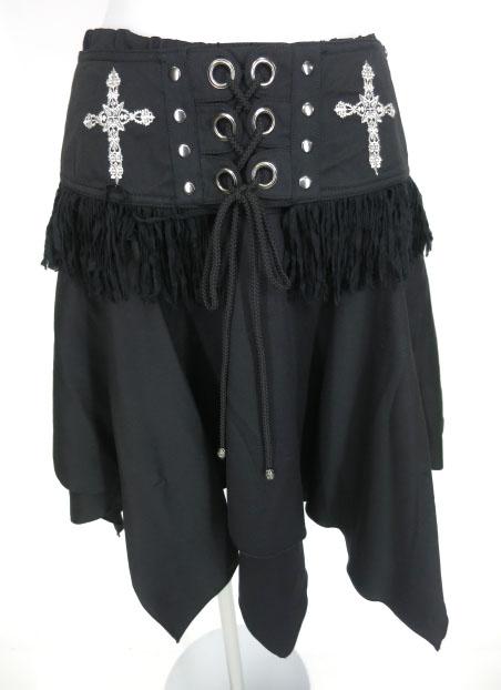 ALGONQUINS クロス刺繍入りベルト付きスカート