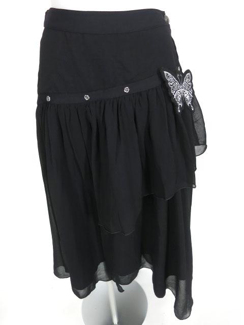 ALGONQUINS オーバースカート風アシメトリーロングスカート