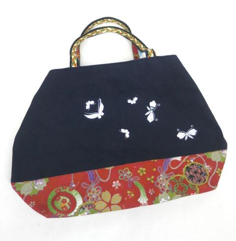 kikou 和柄切替トートバッグ