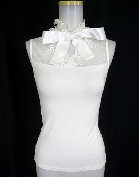 MR corset チョーカー付エンジェルウイングタンクトップ