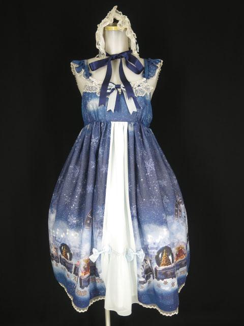 ALICE and the PIRATES スノードームトレイン柄ジャンパースカートII&ヘッドドレス セット