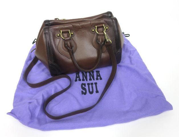 ANNA SUI レザーハンドバッグ