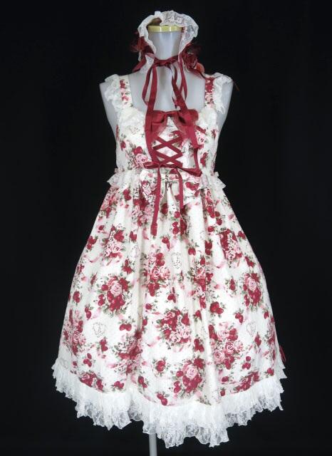 BABY, THE STARS SHINE BRIGHT シュガーブーケ柄ロココジャンパースカート&ヘッドドレス