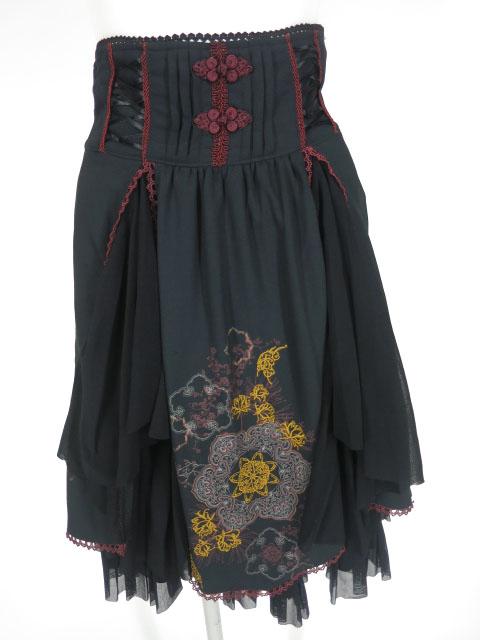 OZZ ONESTE チャイナ刺繍入りスカート