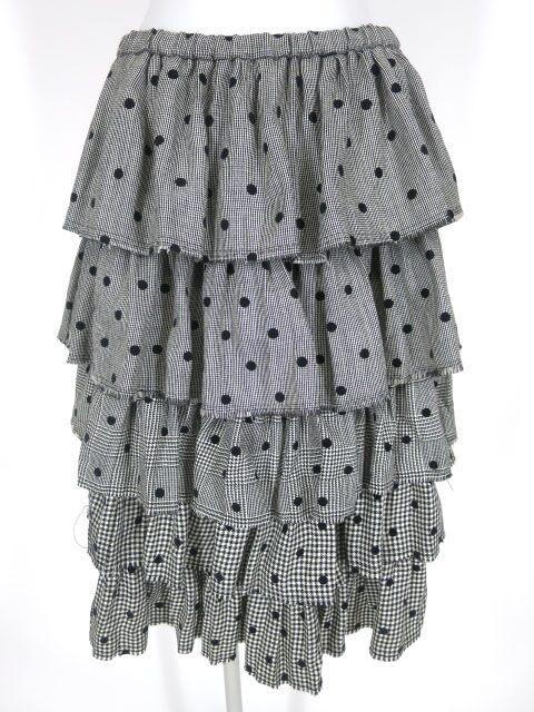 Jane Marple Dans Le Salon ドットフロッキープリントチェック柄ダンドールスカート