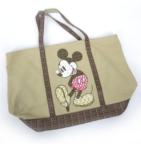 Q-pot.×Disney ミッキーマウス チョコレートトートバッグ