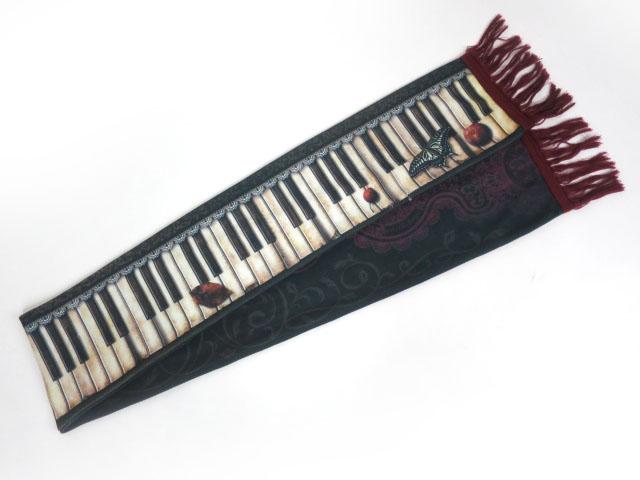 abilletage アンティークピアノマフラー